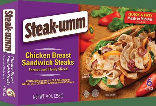 Chicken Breast Sandwich Steaks